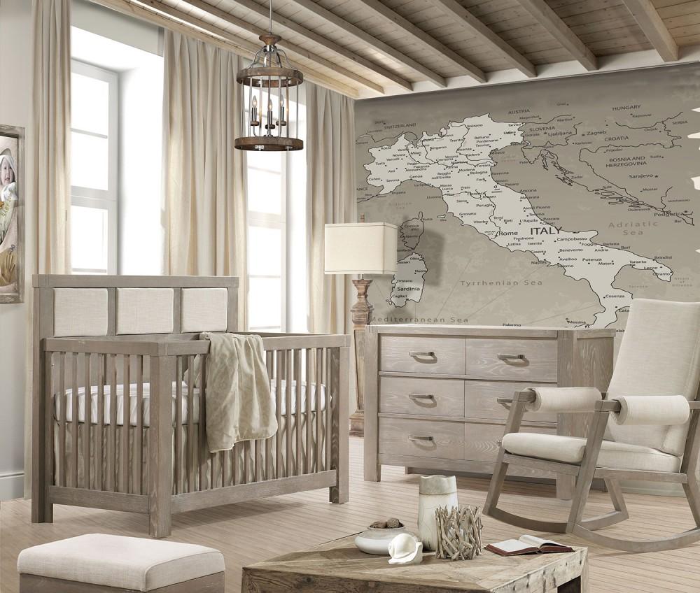 Baby Koo - Rustico Convertible Crib by Natart, 5 in 1